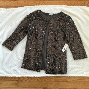 NWT Charming Charlie Sequin Sweater Cardigan sz S